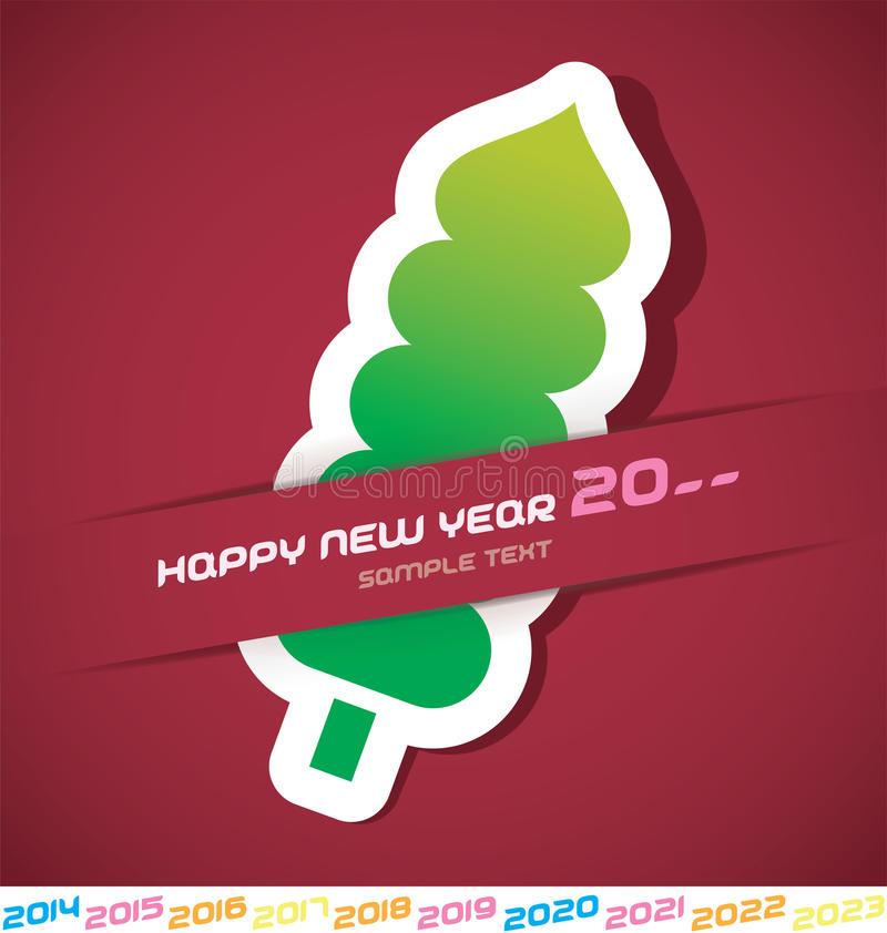 Download New Year Card stock vector. Image of merry, frame, 2015 - 31273606