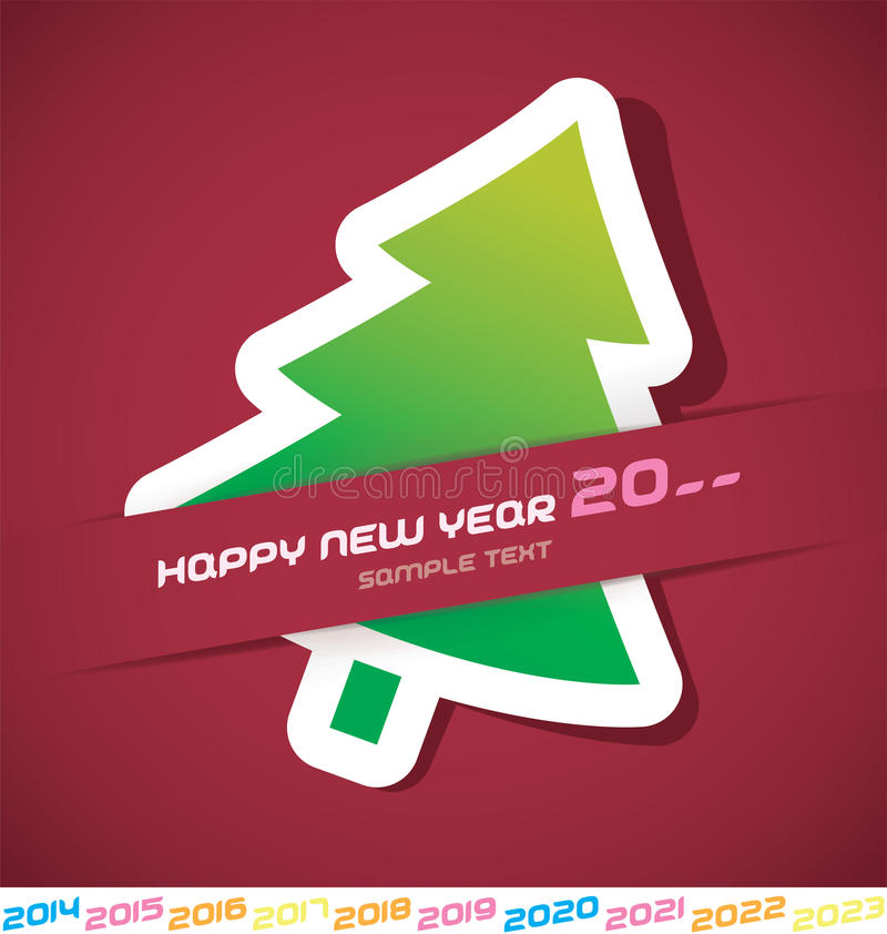 Download New Year Card stock vector. Image of 2015, christmas - 31273618