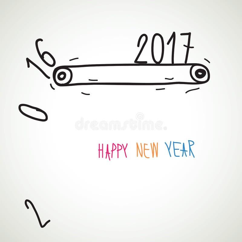 New year card. Vector illustration stock illustration