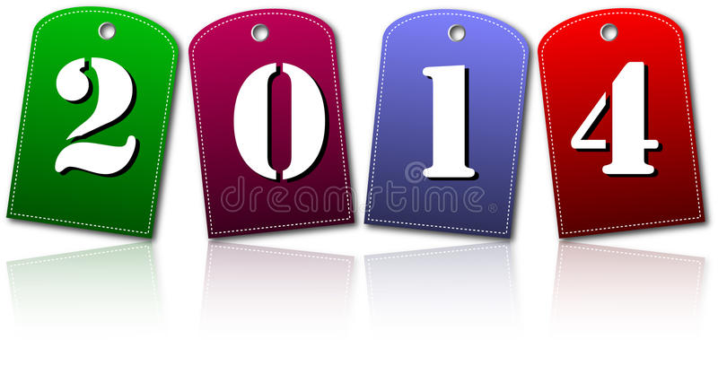 New year cards royalty free stock images