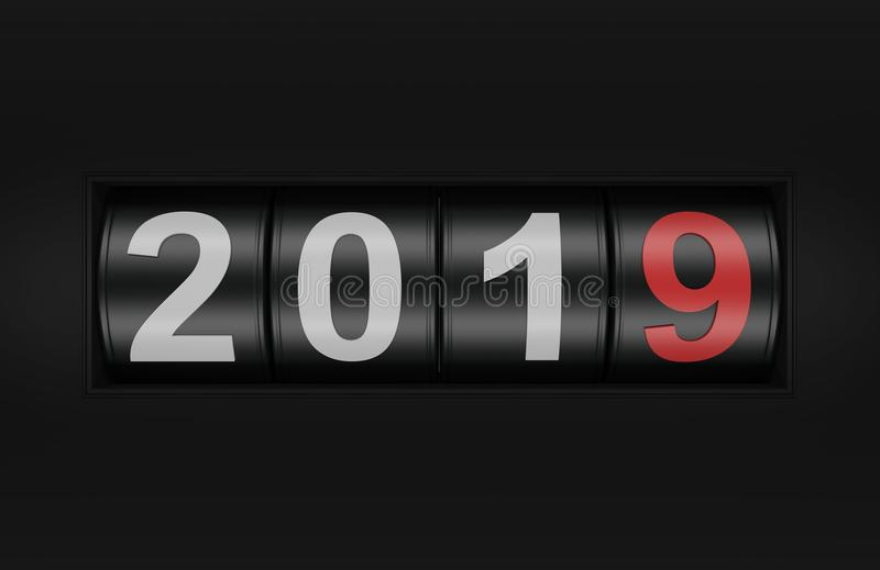 New Year 2019 with casino concept royalty free illustration
