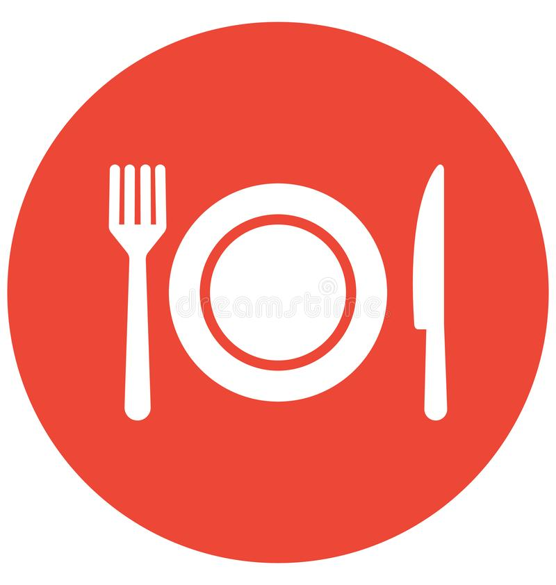 Dining Vector icon which can be easily modified or edit vector illustration