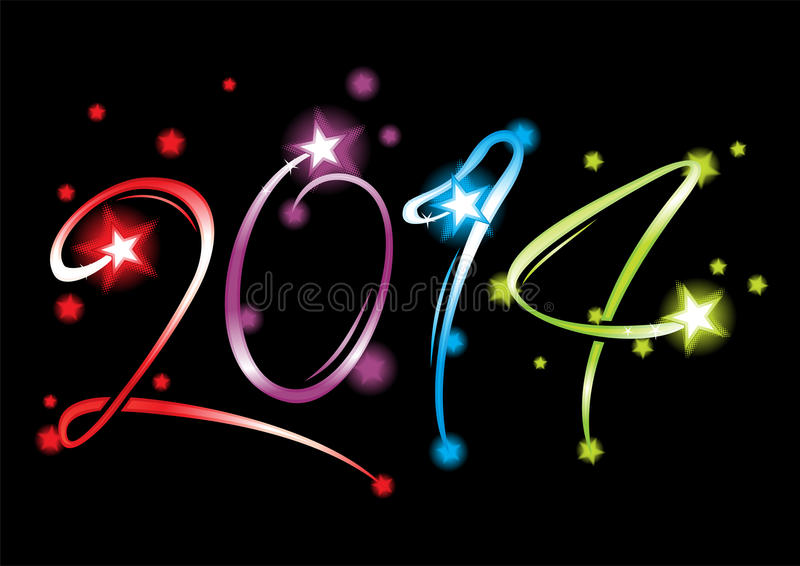 Download New Year 2014 stock vector. Illustration of stars, background - 32232420