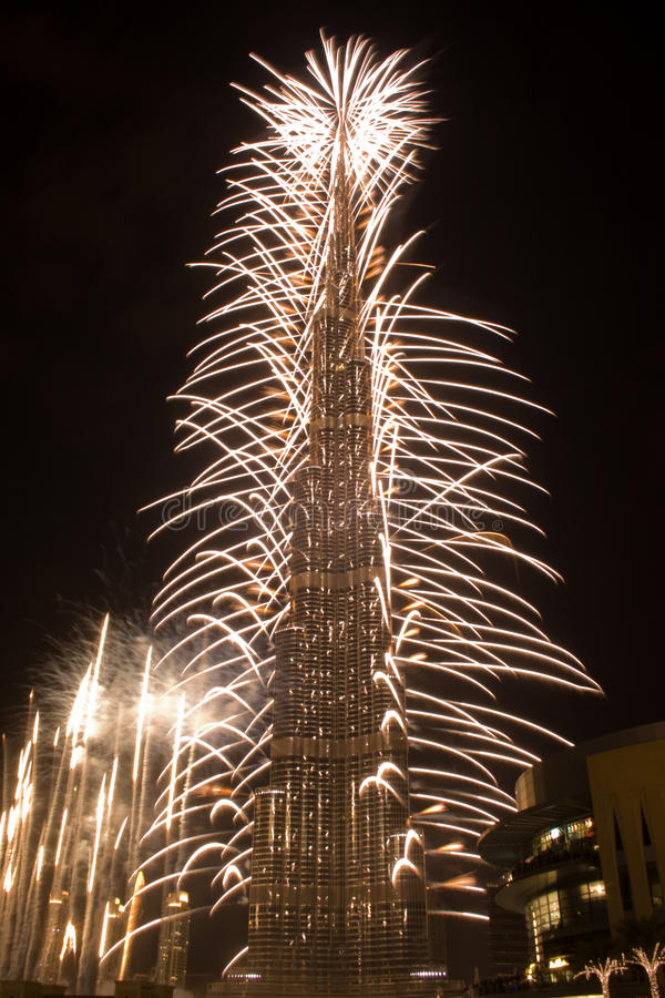 New Year Celebration in Dubai royalty free stock photos
