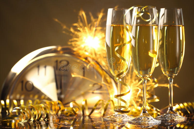 New year celebration stock image