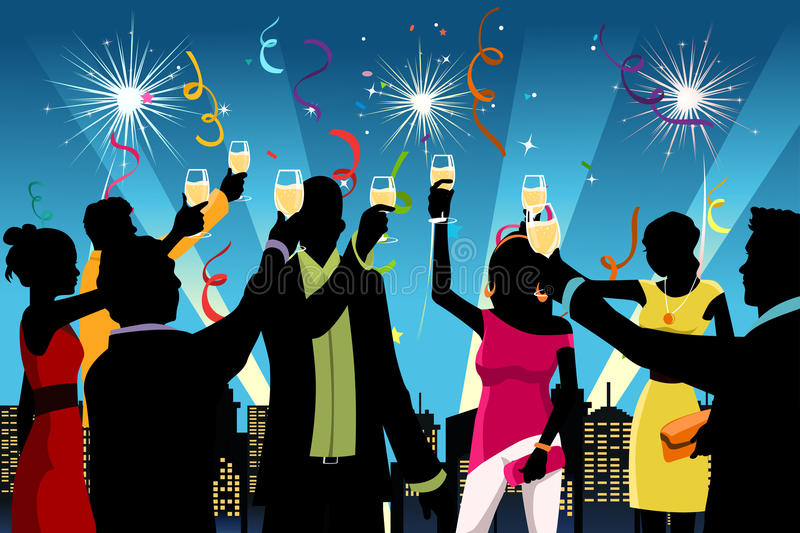 New Year celebration party royalty free illustration