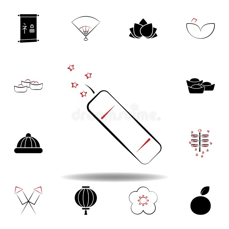 New Year China firework icon on white background. Set of chinese new year illustration icons. Signs, symbols can be used for web, logo, mobile app, UI, UX royalty free illustration