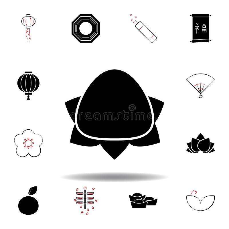New Year China fruit icon on white background. Set of chinese new year illustration icons. Signs, symbols can be used for web, logo, mobile app, UI, UX vector illustration