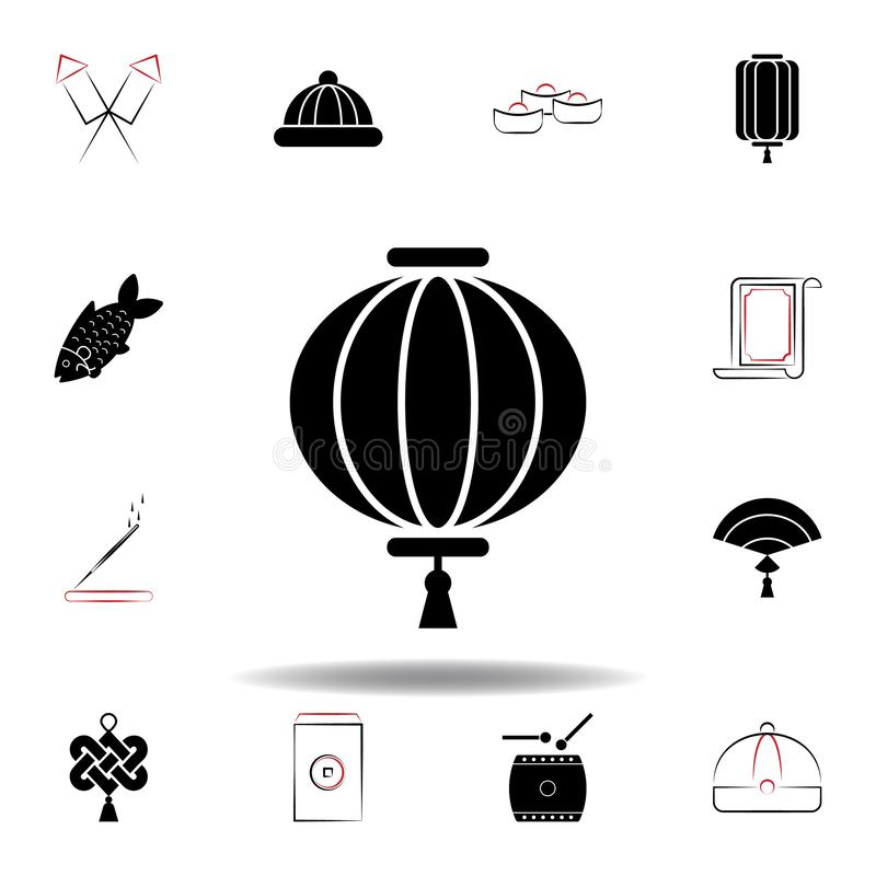 New Year China lantern icon on white background. Set of chinese new year illustration icons. Signs, symbols can be used for web, logo, mobile app, UI, UX vector illustration
