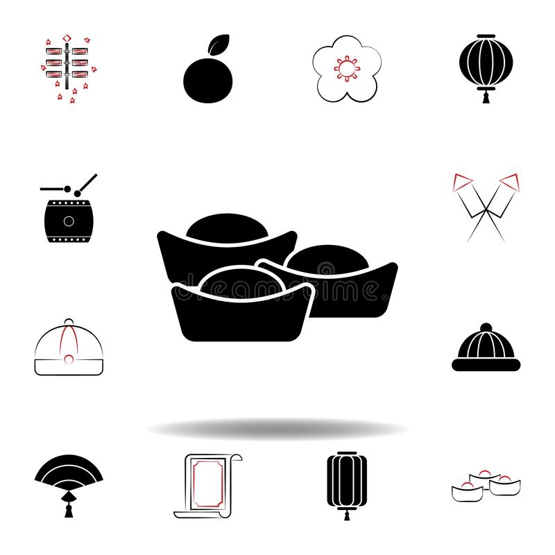 New Year China lunar sweets icon on white background. Set of chinese new year illustration icons. Signs, symbols can be used for web, logo, mobile app, UI, UX vector illustration
