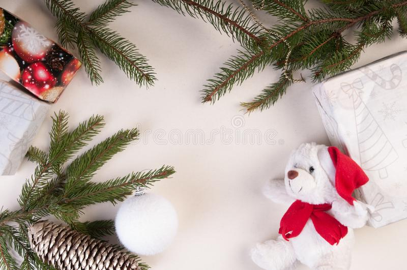 New year and Christmas background stock photo