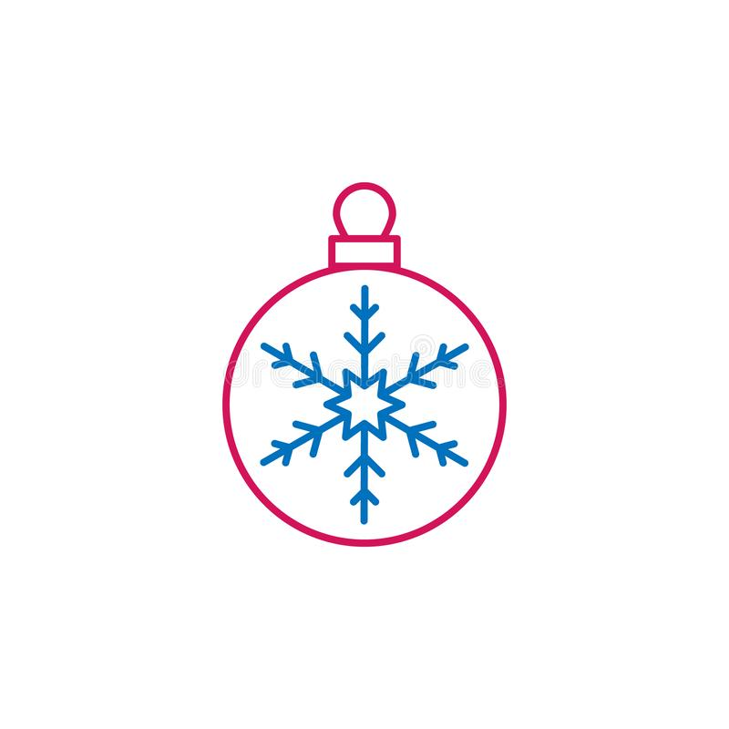 New Year, Christmas, celebration decorations ballcolored icon. Can be used for web, logo, mobile app, UI, UX royalty free illustration