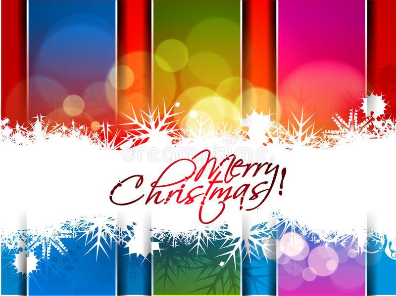 New year and Christmas colorful design stock illustration