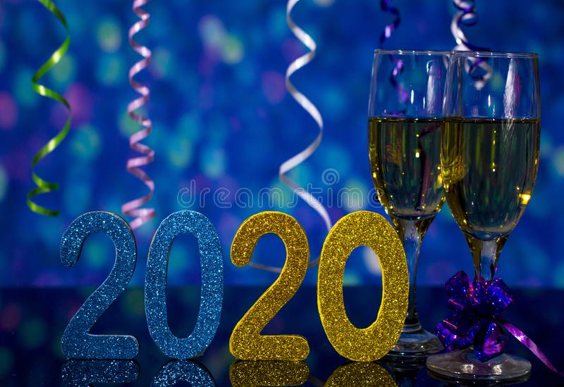 The new year 2020. stock photos