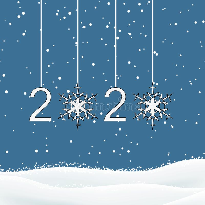 New Year 2020 royalty free illustration