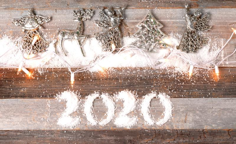 New Year 2020. Christmas decoration royalty free stock photos