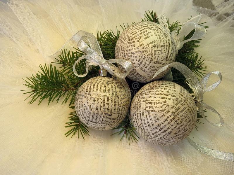 New year and Christmas decoration stock photo