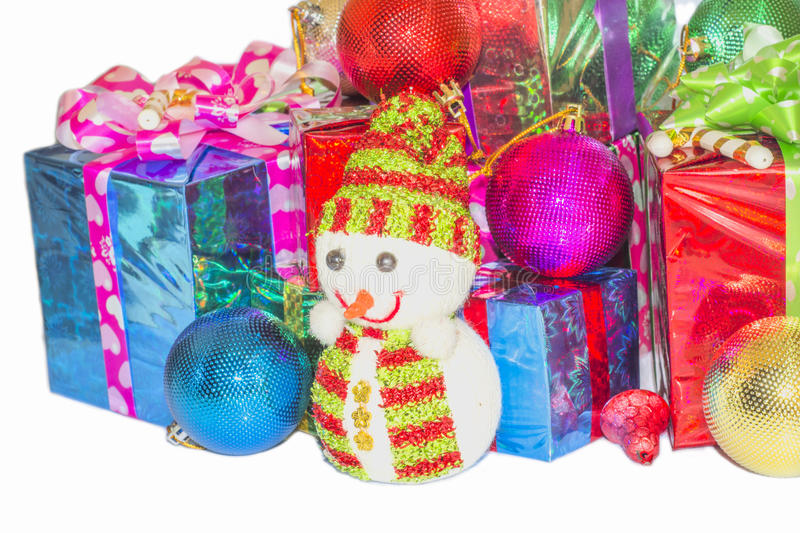 Download New Year And Christmas Gift. Stock Photo - Image of folding, pink: 63285496