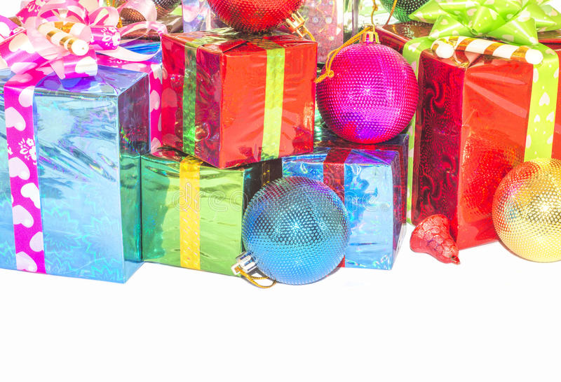 Download New Year And Christmas Gift. Stock Photo - Image of decoration, packaging: 63348754
