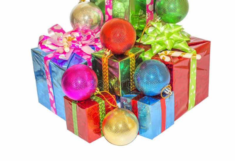 Download New Year And Christmas Gift. Stock Photo - Image: 63348958