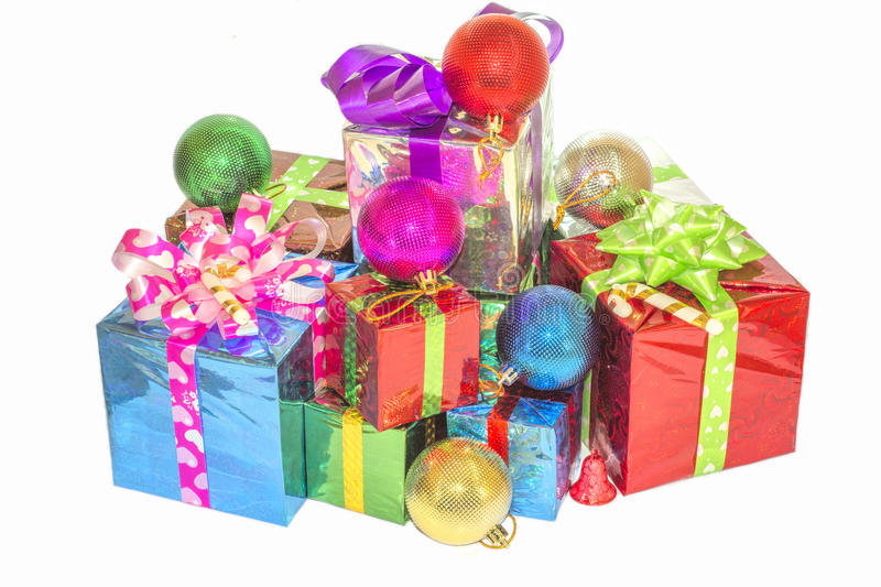 Download New Year And Christmas Gift. Stock Image - Image of cute, ball: 63349193