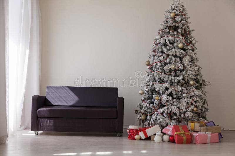 New year Christmas Interior holidays gifts winter royalty free stock image