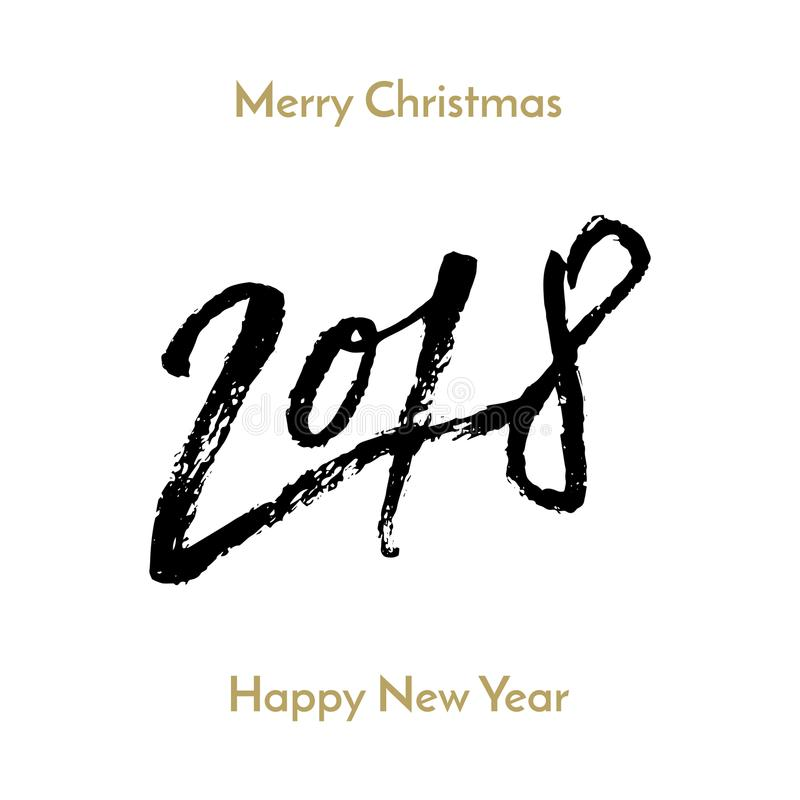 New year 2018 christmas greeting card calligraphy hand drawn vector download new year 2018 christmas greeting card calligraphy hand drawn vector font lettering stock vector m4hsunfo