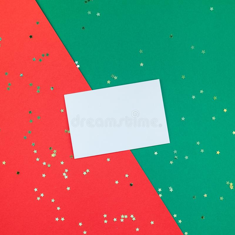 New Year or Christmas greeting letter mockup stock photography
