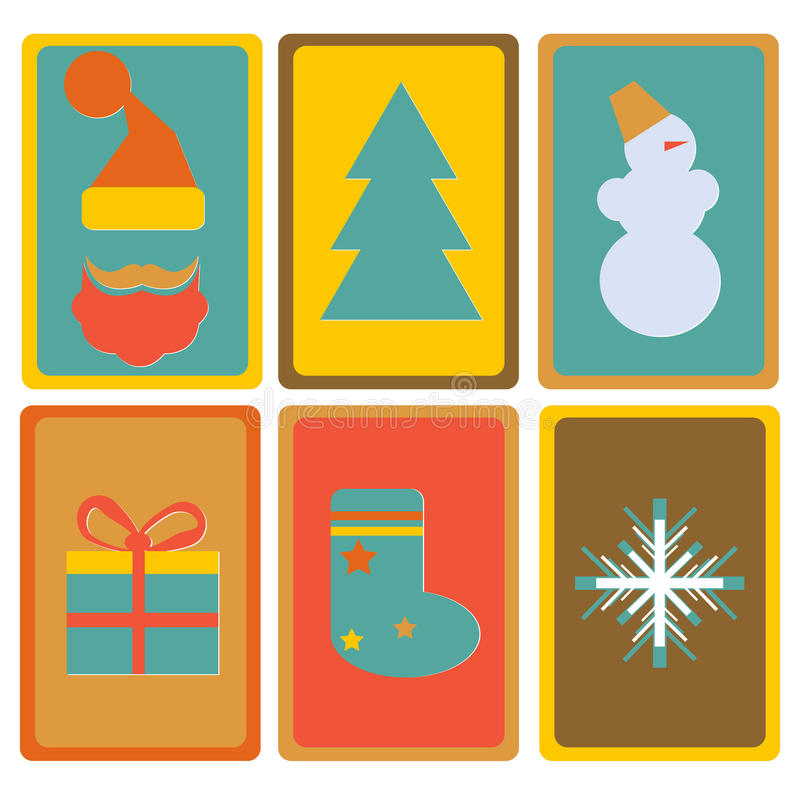 Download New Year And Christmas Icons Stock Vector - Image: 34627003