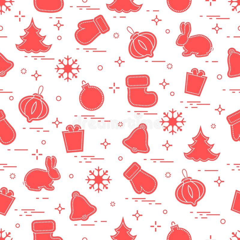 New Year and Christmas seamless pattern. Winter holidays. Design for banner, poster or print. Vector. New Year and Christmas seamless pattern. Winter holidays vector illustration