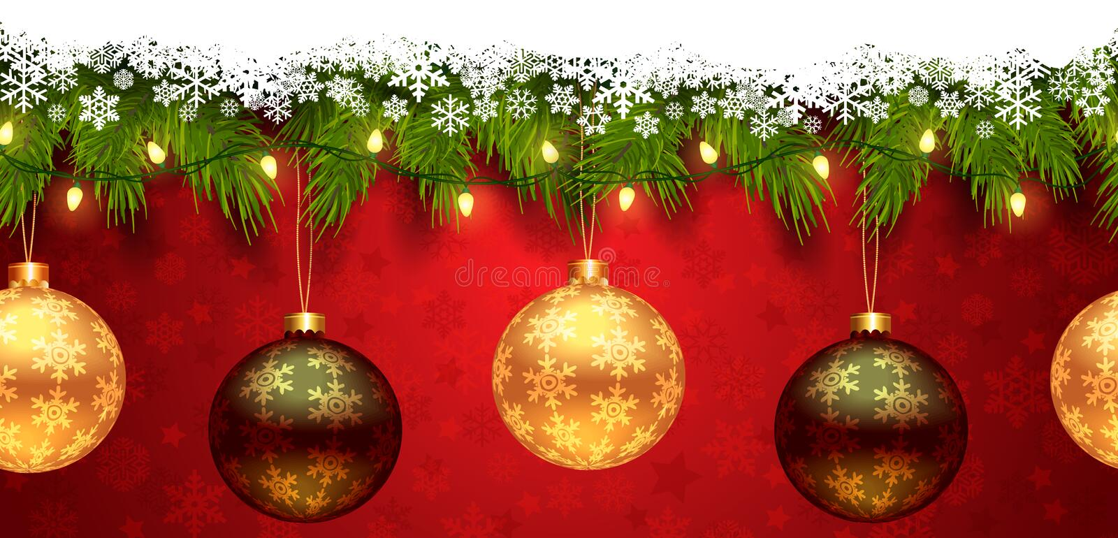 2019 New Year/Christmas seamless template royalty free illustration