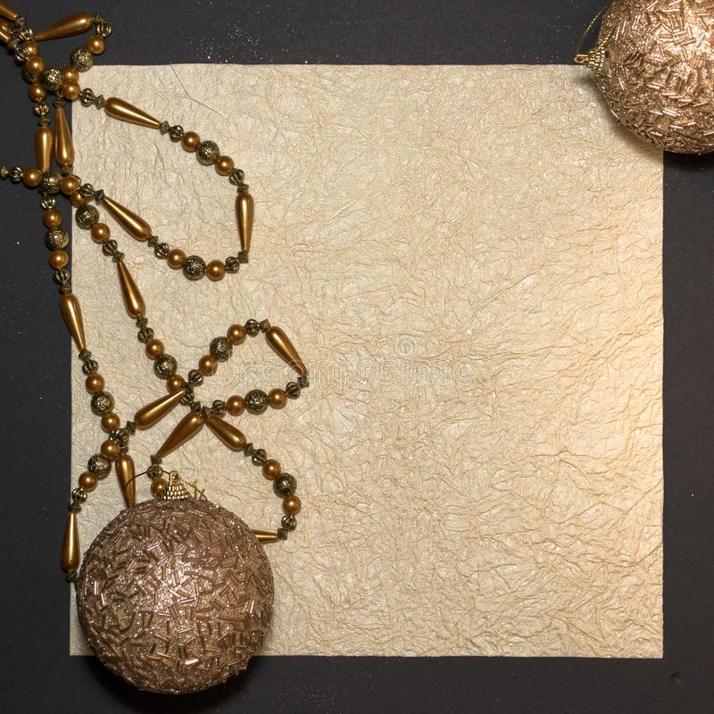 New year or Christmas Season writing textured space. Gold stock images