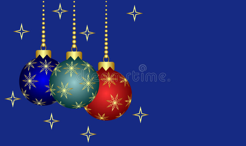 New-year Christmas tree decorations. stock illustration