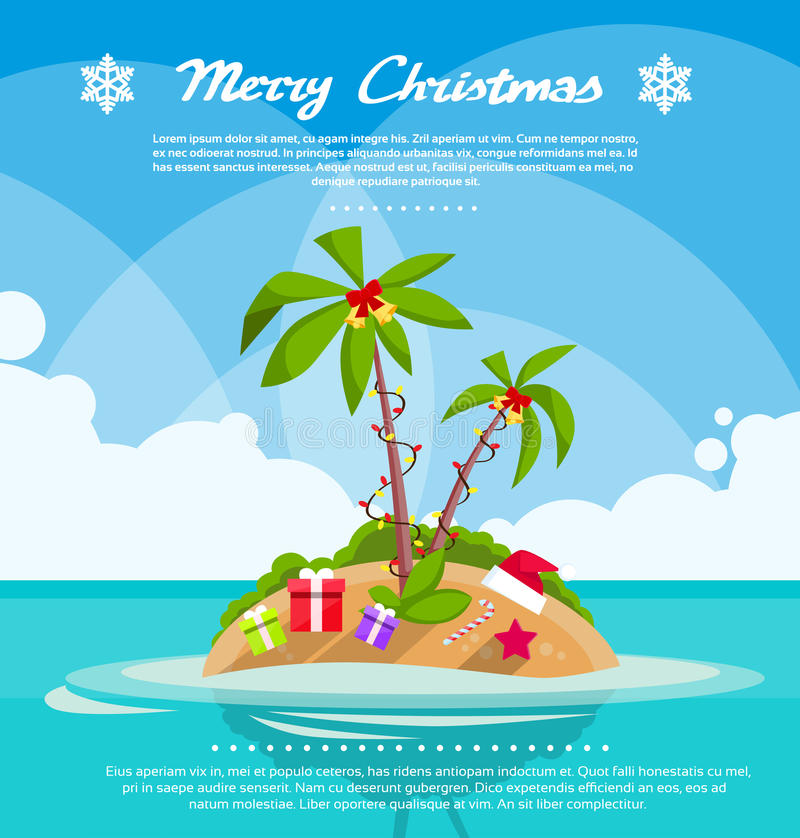 New Year Christmas Vacation Holiday Tropical Ocean royalty free illustration