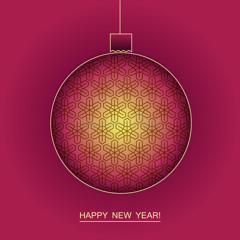 New year and christmas vector background royalty free stock photos