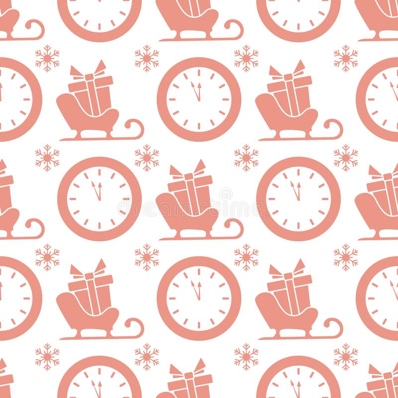 New year 2020, Christmas vector seamless pattern royalty free illustration