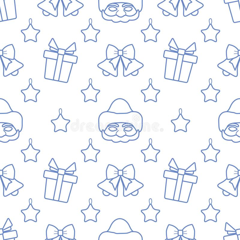 New year 2020, Christmas vector seamless pattern vector illustration
