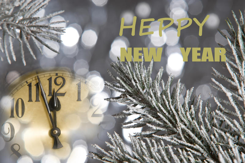 Download New year clock stock image. Image of blurry, close, reflection - 26573645