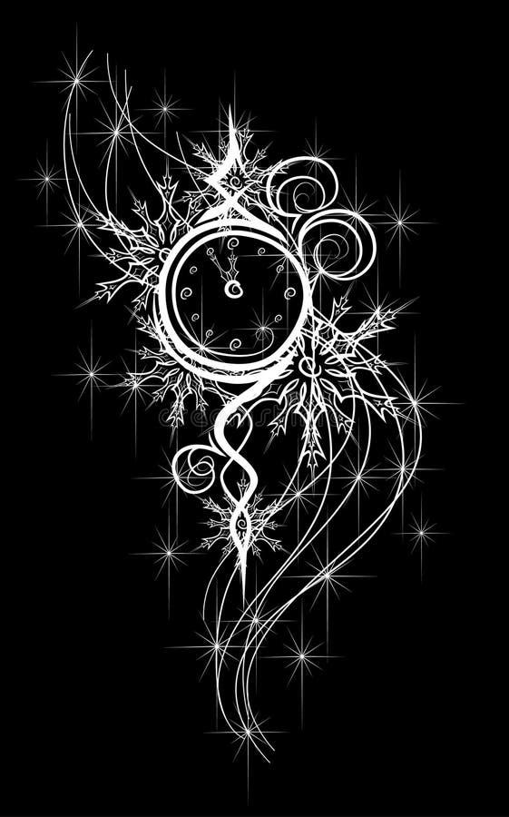 New Year clock 5 min before 12