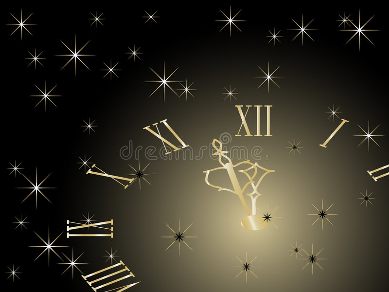 Download New Year Clock Stock Photography - Image: 7342012