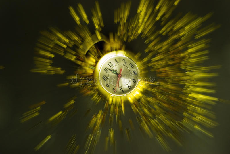 New Year clock explosion royalty free stock images
