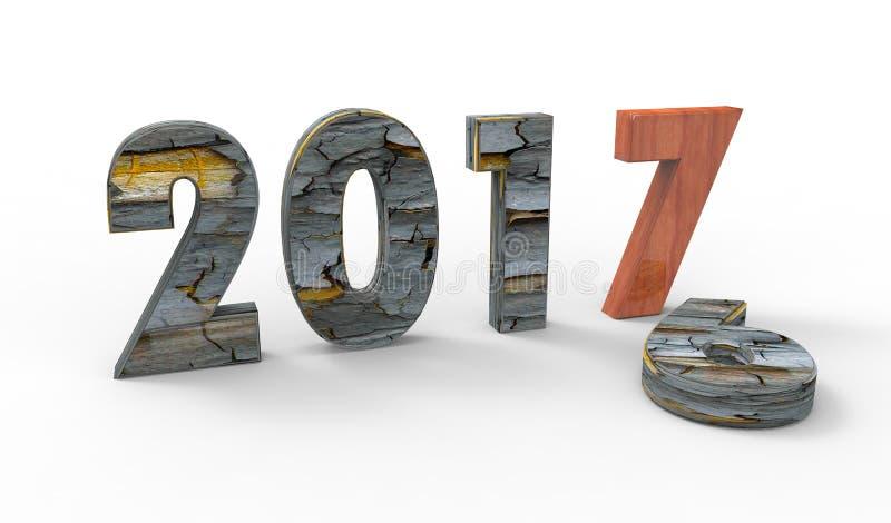 New year 2017 royalty free stock photos