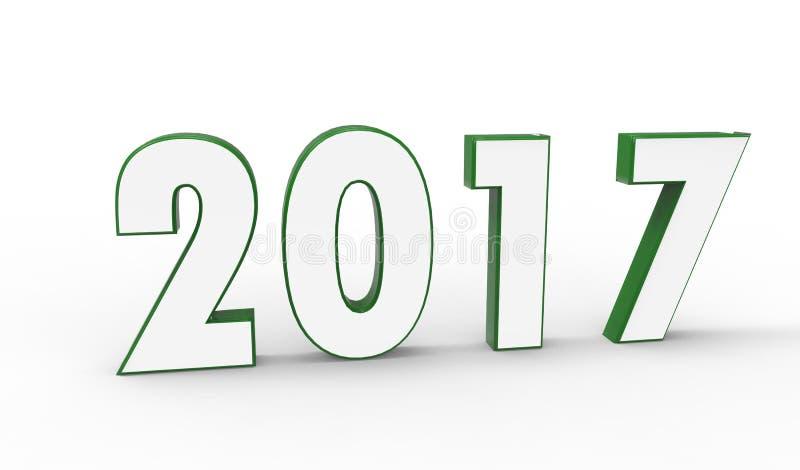 New year 2017 royalty free stock photo