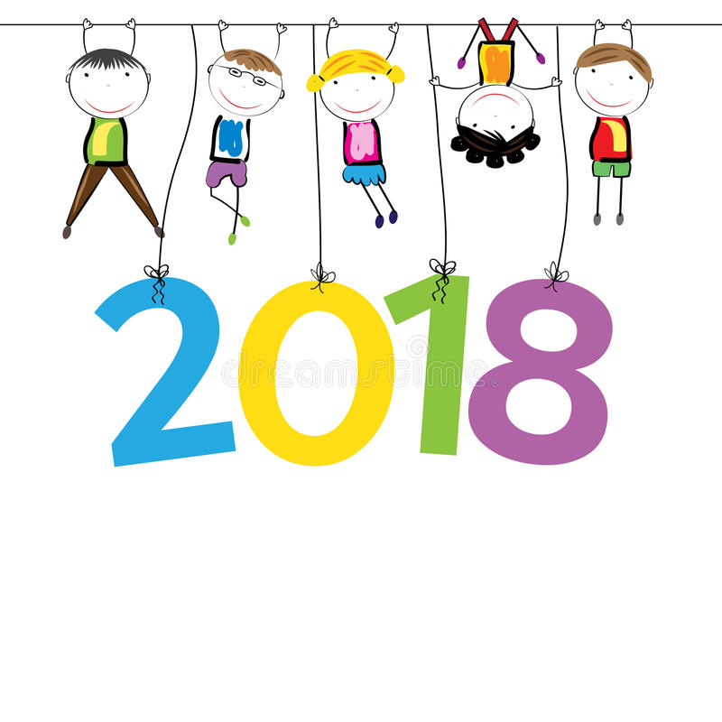 New Year 2018 stock images
