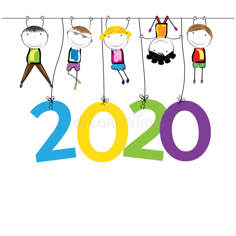New Year 2020 stock image