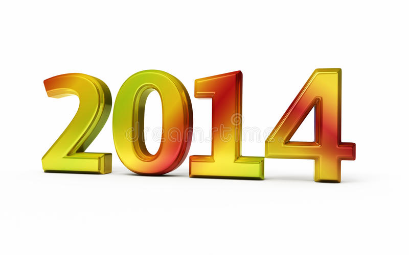 Download New Year 2014 stock illustration. Illustration of concept - 34037364