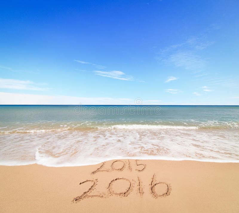New Year 2016 is coming stock photography
