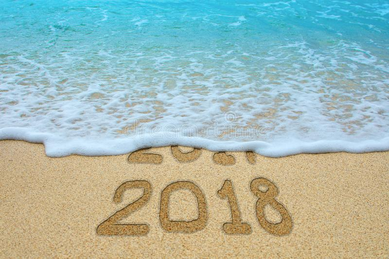 New Year 2018 is coming concept. royalty free stock photos