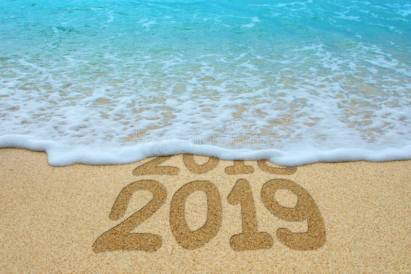 New Year 2019 is coming concept stock photo