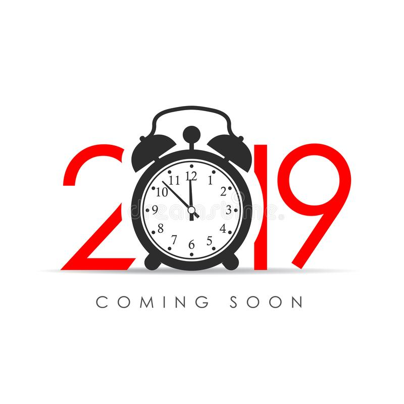 2019 New Year coming soon royalty free illustration